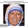 Keith Richards as Mother Teresa Rolling Stones Religion