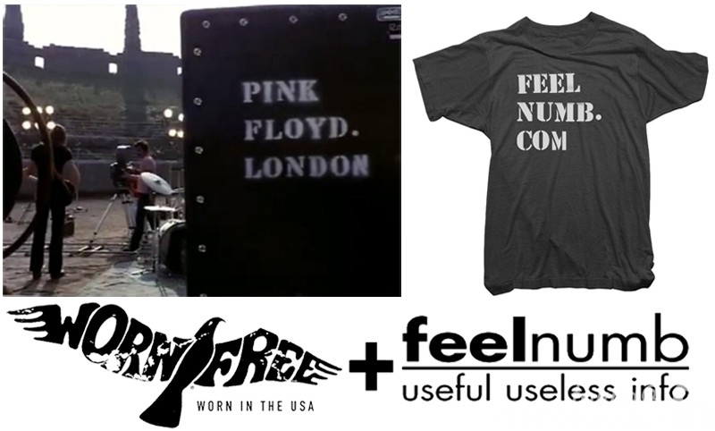 feelnumb.com Pink Floyd London Tee Shirt by Worn Free Lemon Rags