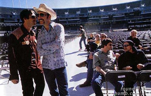 Oasis U2 Popmart 1997 Liam & Noel Gallagher Bono & The Edge