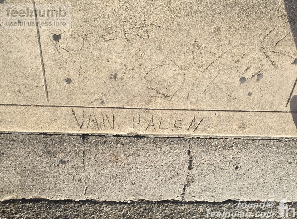 Alex & Eddie Van Halen Cement Scrawl Pasadena California Childhood Home 1976