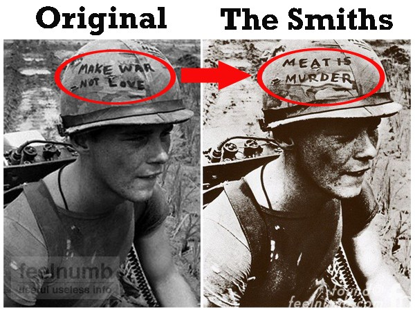 The Smiths Meat Is Murder Album Cover Soldier Love Not War Marine Cpl. Michael Wynn feelnumb.com