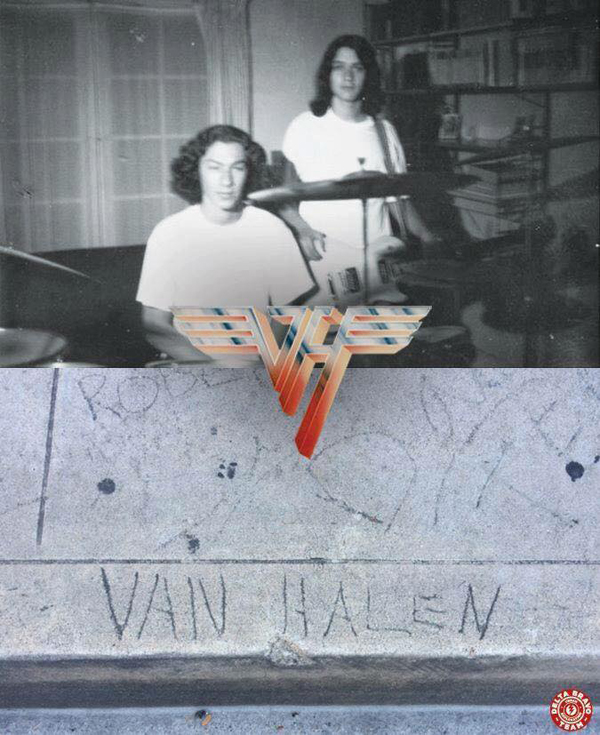 Eddie & Alex Van Halen Sidewalk Delta Bravo Urban Exploration Team Pasadena California