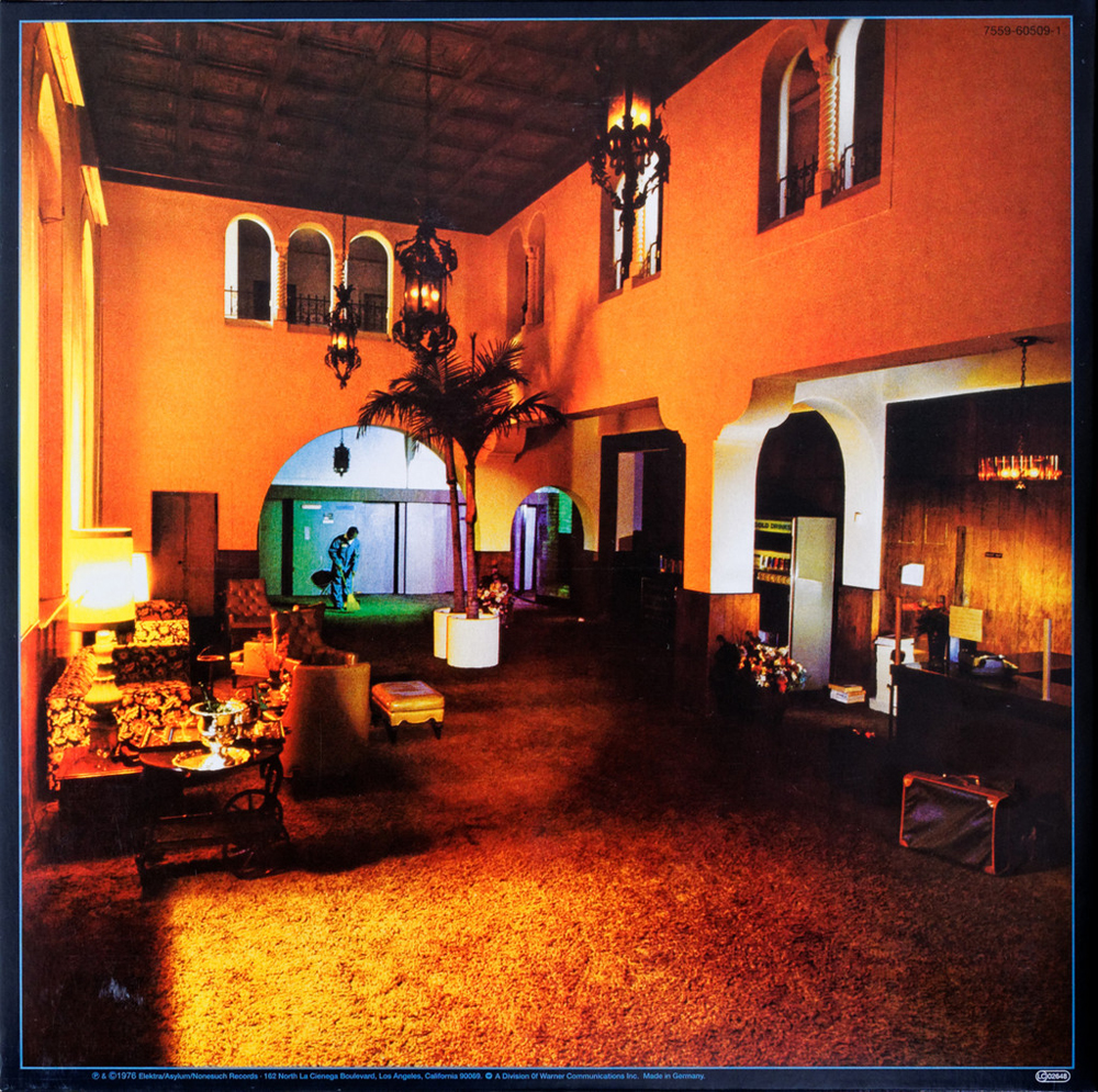 The Eagles Lido Hollywood Lobby Hotel California Back Cover Photo