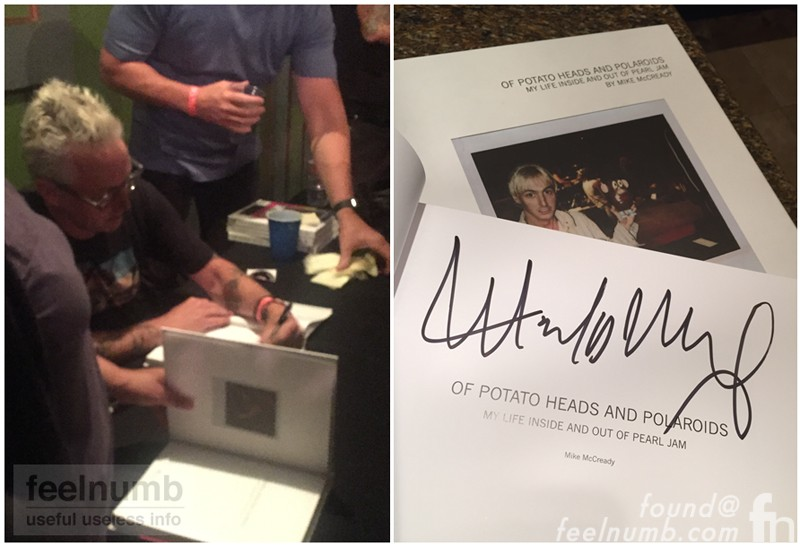 Mike McCready Pearl Jam Book Signing 2017 Polaroids feelnumb.com
