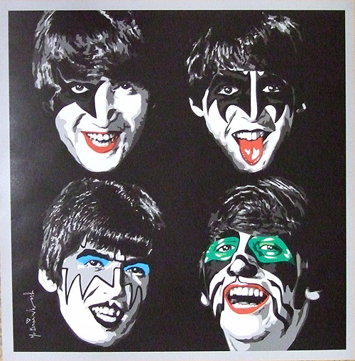 Kiss And Make Up: The Beatles In KISS Make-Up By Mr. Brainwash